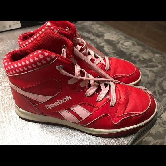 fecha Tranquilidad de espíritu Desesperado  Reebok Shoes | Used Retro Red With Hearts High Top Reeboks | Poshmark